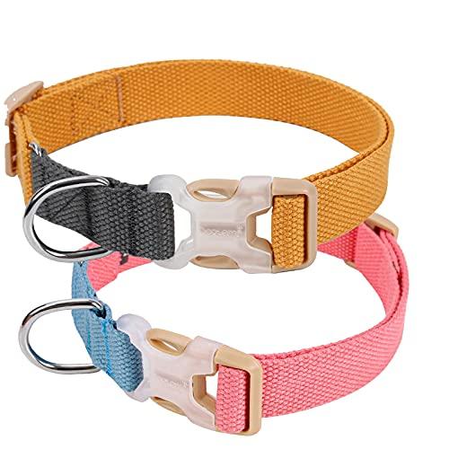 MARMODAY 2 collares cómodos para perro y cachorro, con hebilla firme y duradera