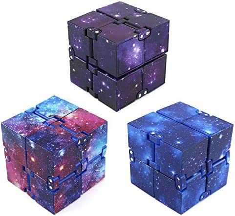 LAOZHOU 3 Pack Fidget Toy Cube Stress Relief Stress Relief Toy Cube Ball Hand Sensory Toys for product image