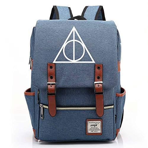 Harry P Rucksack, Teenager Outdoor Travel University Backpack, Fits Laptop Tablet, Boy/Girl Weekend Bag 14 inch. Color-04.