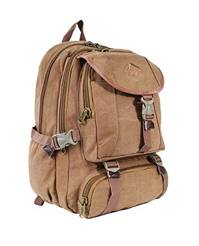 Outdoor Gear-Zaino da uomo donna TELA Zaino Laptop da 13, 13.3, 15, 15.6, ideale per campeggio, escursionismo, Viaggi Weekend Bag-30Litri