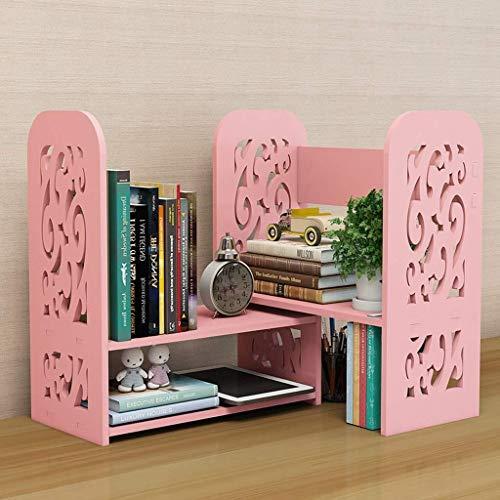 Yxsd Desktop boekenkast inschuifbaar boekenrek boekenrek kleine dingen besparingen kast vitrine 60x17x40cm boekenkast