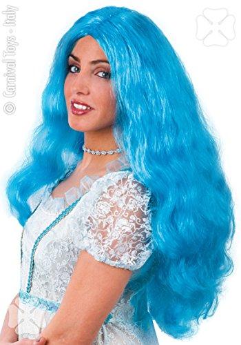 Perruque Celeste bleu turquoise perruque bleue