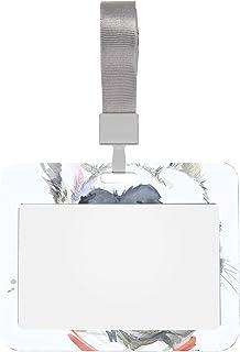 Porte-badge d'identification 4x3 Kiss Bouledogue français T-shirt graphique Protecteur de badge transparent avec lanière P...