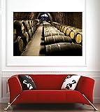 Art déco Stickers Affiche Poster Cave à vins - 140x93cm