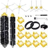 QAQGEAR Kit de Piezas de Repuesto para iRobot Roomba 700 Series 760770780790 Robot Aspirador, con filtros, Cepillo Principal, Rueda giratoria, Superficie de neumáticos