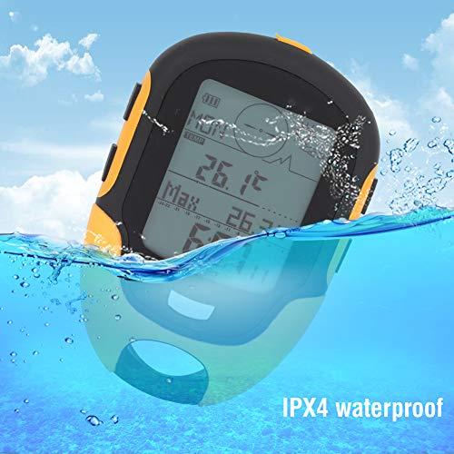Altimetro elettronico GPS, ABS IPX4 Navigazione Esterna Impermeabile/Altimetro/Bussola di umidità della Temperatura/Indicatore di Tendenza meteorologica/Misurazione dell'altitudine/Barometro
