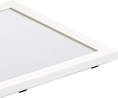 AmazonBasics Rectangular Wall Mirror 41 x 51 cm - Standard Trim, White