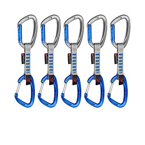 Mammut 5er Pack Crag Indicator Express Sets, Unisex, Erwachsene, Mehrfarbig (Straight Gate/Wire Gate, Silve), 10 cm