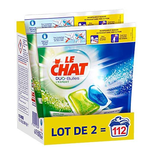 Le Chat L'Expert Duo-Bulles - Lessive en Capsules - 112 Lavages (2 x 56 Capsules)