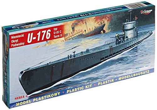 Mirage Hobby 40 41, 1: 400 échelle, U-176 U-Type IX C Turm II sous-marin allemand, kit de modèle en plastique
