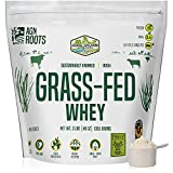 AGN Roots Grassfed Whey Protein | Certified Brand List ASPCA | Certified Entire Life On Pasture Grass Fed | Unflavored | Informed Choice & Sport | Sustainably Farmed | Certified by A Greener World