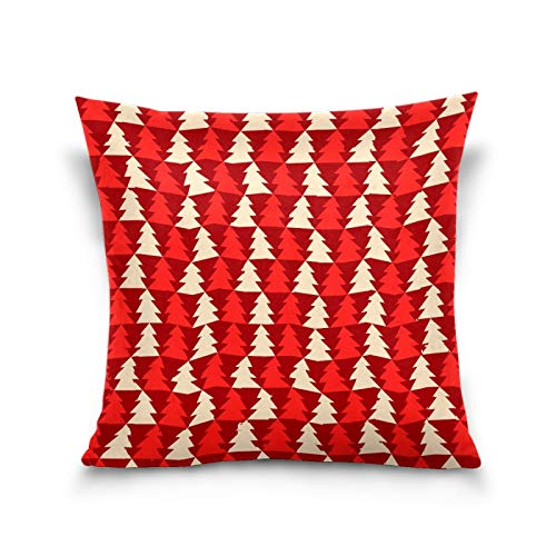 N/Q Sisters Throw Pillow Cover, 18 x 18 Inch I Small Children Cushion Case Decoration for Sofa Couch Cushion Covers Square Outdoor Pillowcase Lovely Christmas Tree (2)