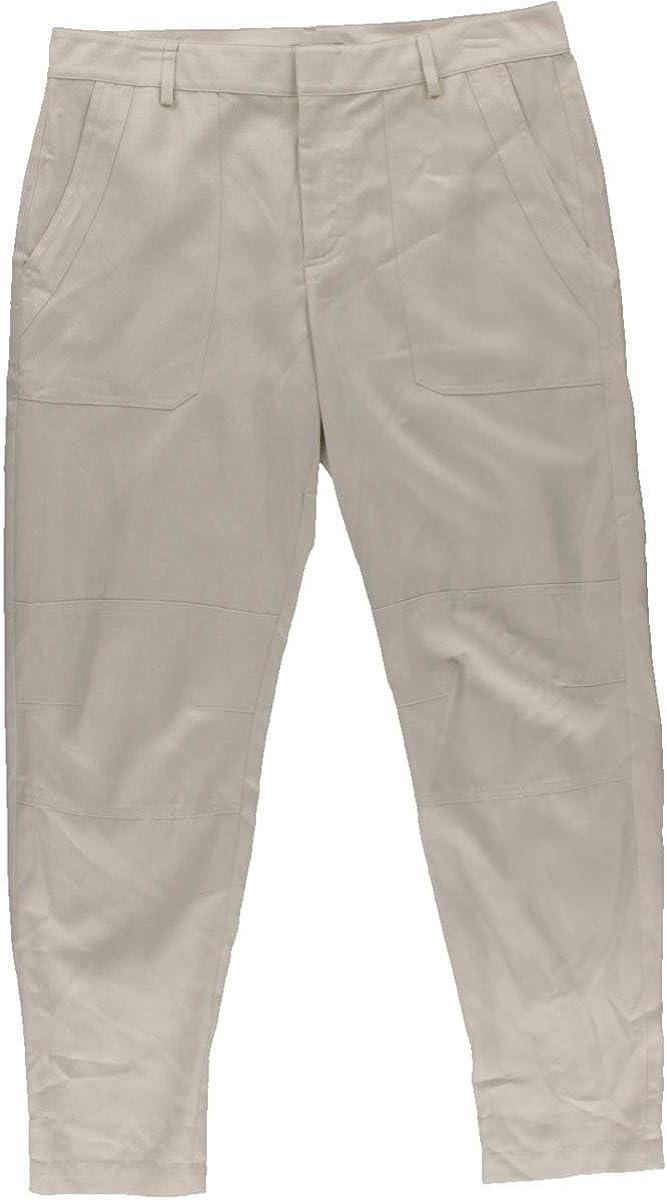 Vince Women's Cuffed Twill Cargo Pants 6 Chalk