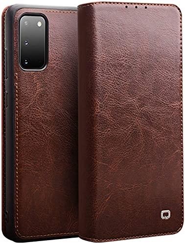 Galaxy S20 Cartera Cartera Protectora Cartera de Cuero Set Tarjeta de Cartera Ultra-Delgada Funda de Cuero Completo Caja de teléfono móvil de 6,2 Pulgadas 5g - marrón, Brown