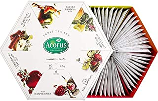 Sponsored Ad - ACORUS Summer Taste - natural Fruit Tea Set of six different flavours in the Beautiful Presentation Box (60...