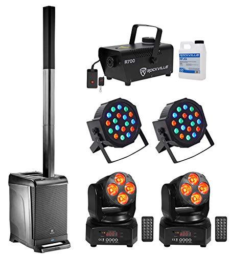 Best Bargain JBL DJ Package w/EON One Array Speaker+Sub+Fogger+(2) Pars+(2) Moving Heads