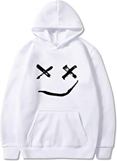 Halloween Hoodies سوياتشيرتس هالوين للرجال، طويلة الأكمام مقنعين سترة ابتسامة وجه مطبوعة البلوز البلوز Sweaters (Color : W...