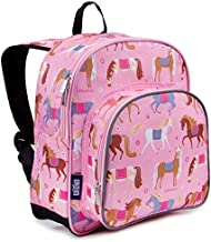 Wildkin 12 Inches Backpack for Toddlers, Boys and Girls, Ideal for Daycare, Preschool and Kindergarten, Perfect Size for School and Travel, Mom's Choice Award Winner, Olive Kids (Horses)
