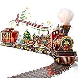 CubicFun Puzzle 3D Trenino Natale con Luci e Suoni per Natale Decorazioni Trenino Albero di Natale Decorazioni Casa Regali Natale per Bambini e Adulti, 218 Pezzi