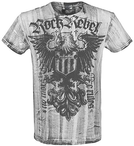 Rock Rebel by EMP Rebel Soul Hombre Camiseta Blanco S, 100% algodón, Vintage Regular