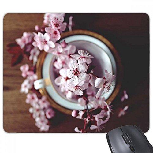 Roze Plum Blossom Vaas Rechthoek Antislip Rubber Mousepad Game muismat Gift