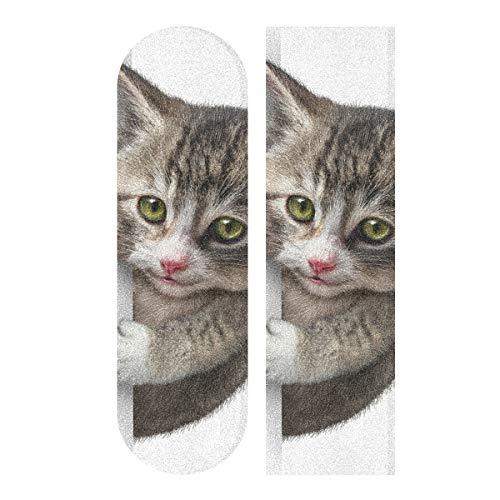 Skateboard-Griffband, Motiv Katze mit Blanko, 22,9 x 83,8 cm