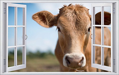 Kuh Tiere Landwirt Weide Wandtattoo Wandsticker Wandaufkleber F1295 Größe 70 cm x 110 cm