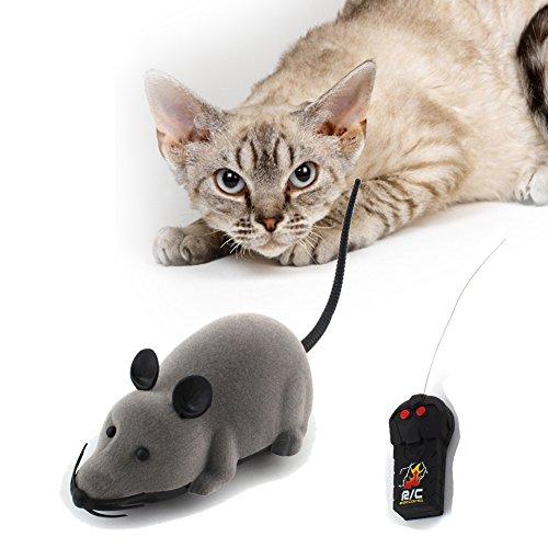 Demiawaking 1pcs Topo Telecomandato RC Ratto Wireless Giocattolo per Cane Gatto Domestico
