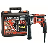 Black & Decker KR806K 3100RPM Sin llave 850W - Taladro eléctrico (3100 RPM, 1,3 cm, 3,2 cm, 16 Nm, 1,6 cm, 850 W)