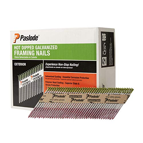 Paslode, Framing Nails, 650387, HDG 30 Degree Round Head, 3 inch x .131 Gauge, 2,000 per Box
