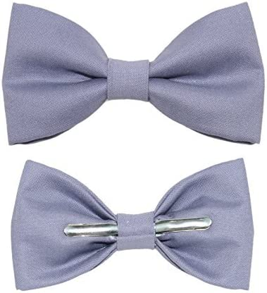 Toddler Boy 3T 4T Slate Blue Clip On Cotton Bow Tie by amy2004marie