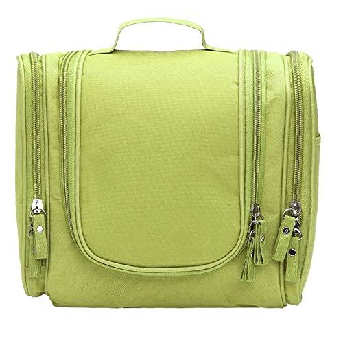Organizador de lavado de viaje Bolsa de asas Multifuncional Mujeres Cosméticos Bolso Maquillaje Bolso Hombres Colgando Bolsa de almacenamiento (Color : Green)