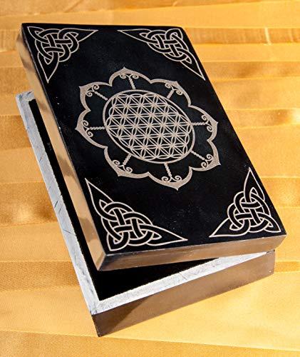 Kartenbox - Blume des Lebens im Lotus Box für Tarotkarten