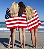 American Flag Beach Towel for Adults | Kids, Aimilaly Large Beach...