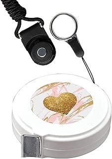 Cinta métrica de 1,5 m de color blanco con diseño de cerezo para medir la imagen personalizada del cuerpo, cinta métrica retráctil automática para medir la ropa y medir fracciones