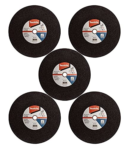 5 x Makita B-10665 Abrasive Chop Saw Wheel Metal Cut 355mm x 3 x 25.4mm - 2414EN