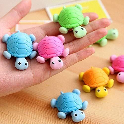 Sccarlettly Vektenxi 6 Stucke Schone Schildkrote Chic Stil Radiergummi Gummi Schreibwaren Kind Geschenk Spielzeug Zufallige Farbe Langlebig Und Praktisch