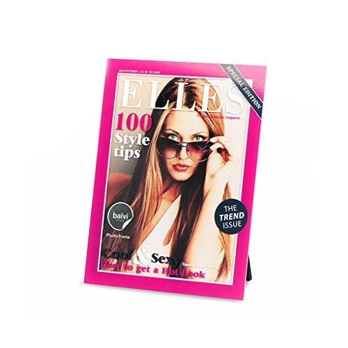 Balvi Cadre Elles Couleur Rose Cadre Photos Originales Design rmagazine de Mode À accrocher au Mur ou à Poser Acrylique 21,9x16,5x0,8 cm