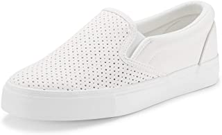 Women's Fashion Sneakers Perforated Slip on Flats...