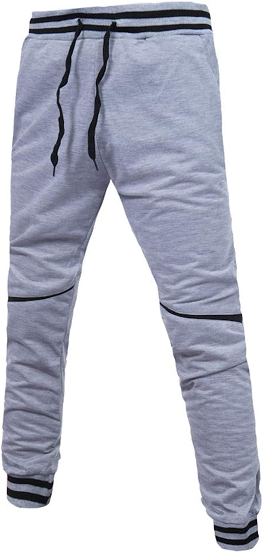 f569ee1461 Brilliant sun Mens Cotton Zipper Sports Trousers Joggers Sweatpants Pants  Big and Tall