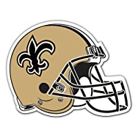 "Fremont Die NFL New Orleans Saints Vinyl Helmet Magnet, 12"", Team Colors"