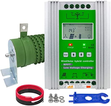 Mars Rock1400W 12V 24V Off Grid MPPT Wind Solar Hybrid Charge Controller Design for 0 800W Wind product image