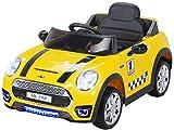 Actionbikes Motors Kinder Elektroauto Mini Cooper Eva Reifen Ledersitz Kinderfahrzeug Kinderauto in vielen Farben (Gelb)