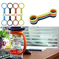 STKYGOOD Running Water Bottle Handheld, Soft Water Bottle Carrier,Stretchable Bottle Holder Strap/Handle for Outdoor Activities Running,Hiking,Bike,Gym,Jogging,Fits All Bottles (Four Colour) [並行輸入品]