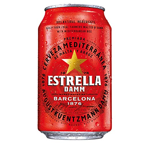 Estrella Damm Barcelona Premium Lagerbier 24 * 0,33l DPG Dose