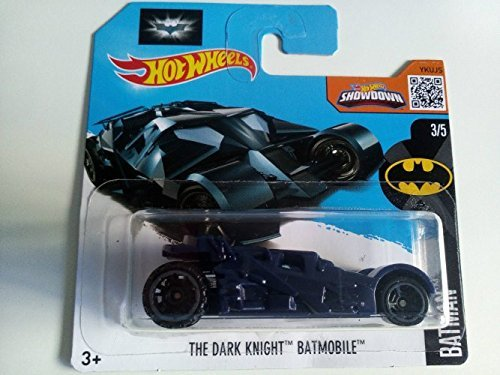 New Hot Wheels 2016 - THE DARK KNIGHT Batmobile Blue - HW BATMAN Short Card (228/250) by Hot Wheels