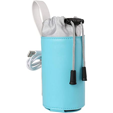 7.09 x 5.12 inches CUTICATE Baby Travel Bottle Warmer Milk Heater Bag With USB Heating Pad Set Dinosaurs