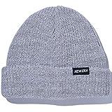 (ニューエラ) NEW ERA ニット帽 カフ SOFT SHORT BRAND NAME ライトグレー/ホワイト FREE