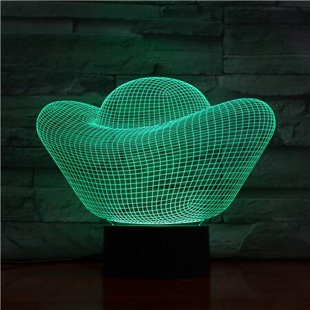 Gold Ingot Money 3D Lamp 7 Color Led Night Lights Touch Usb Table Lampara Lampe Nightlight for Friends Kids Birthday Gift 1456
