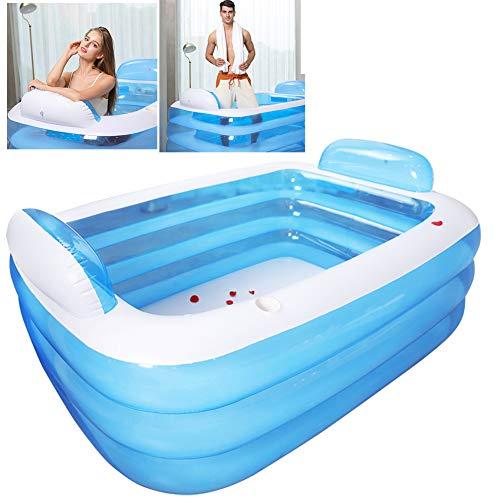 SYXW Dreischichtiges, Verdicktes Schwimmbad Aufblasbarer Pool Isolierbadewanne Umweltschutz PVC-Material Ist Sicherer Zu Verwenden,180cm